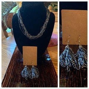 COPY - 💥4/$10💥Multi String Smoky Gray Necklace Set